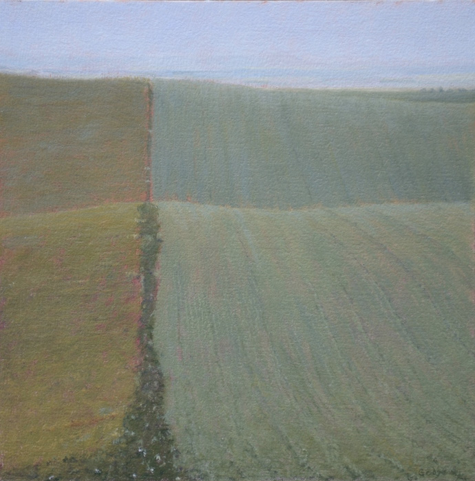 Christine Gedye   Palouse Perspective , 2013  Oil on cotton on panel