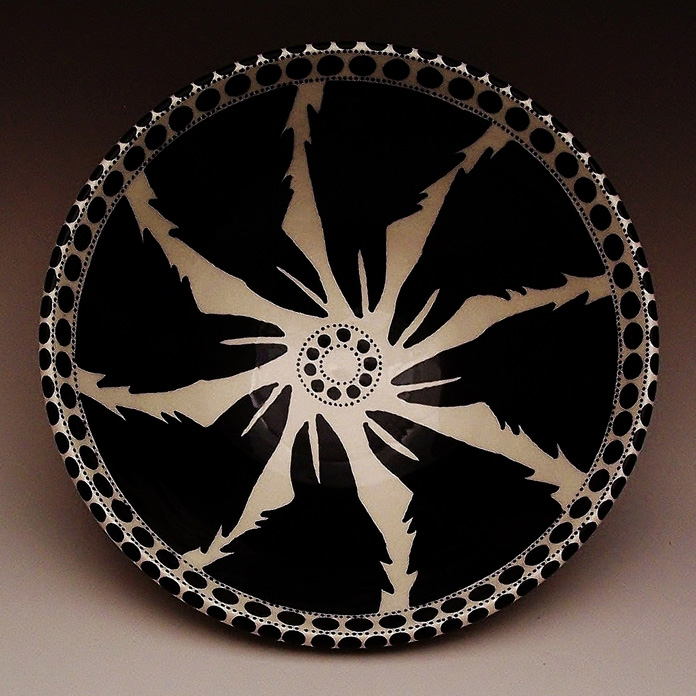 Irene Lawson      Raven Mandala Bowl , 2013     Earthenware with underglazes