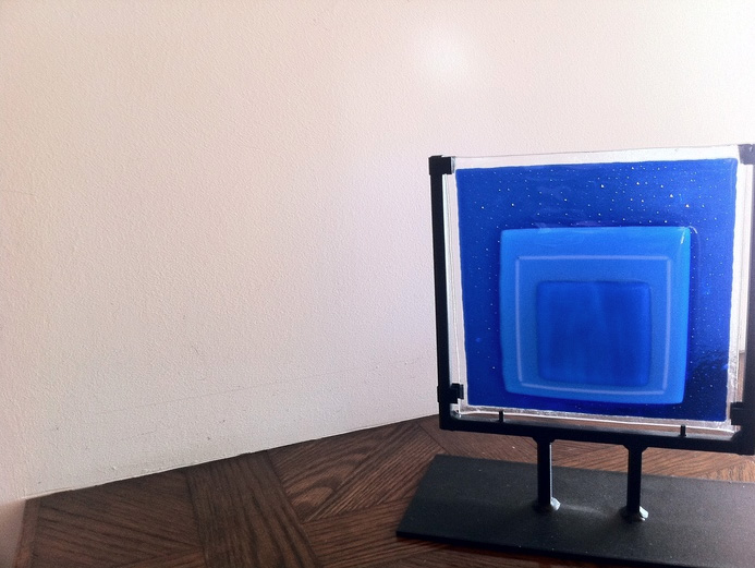 Iris Litt      Homage to Albers , 2010     Fused glass