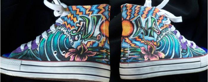Kaili Molina      Aloha Kicks , 2013     Converse-style tennis shoe
