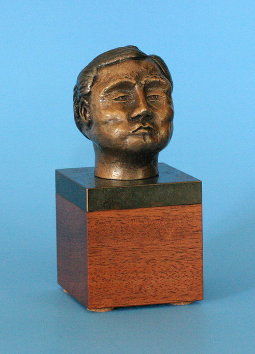 Mark Dahn   Chinese Man , 2012  Bronze