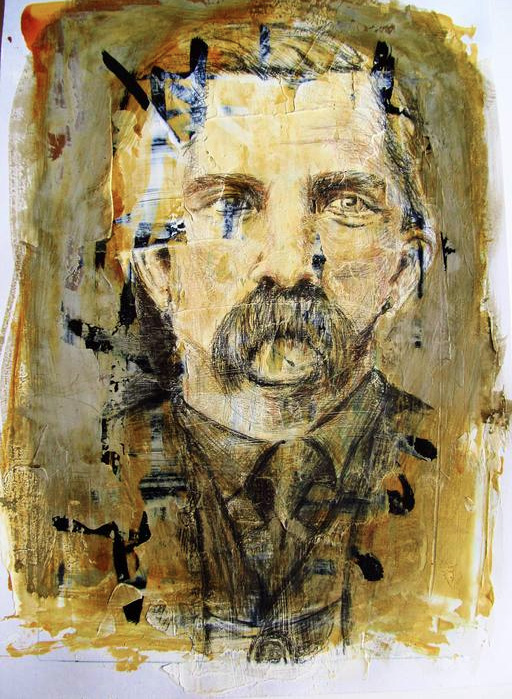 Seth McFarland    The Old Photo , 2011     Ink, acrylic, gesso, pencil, charcoal