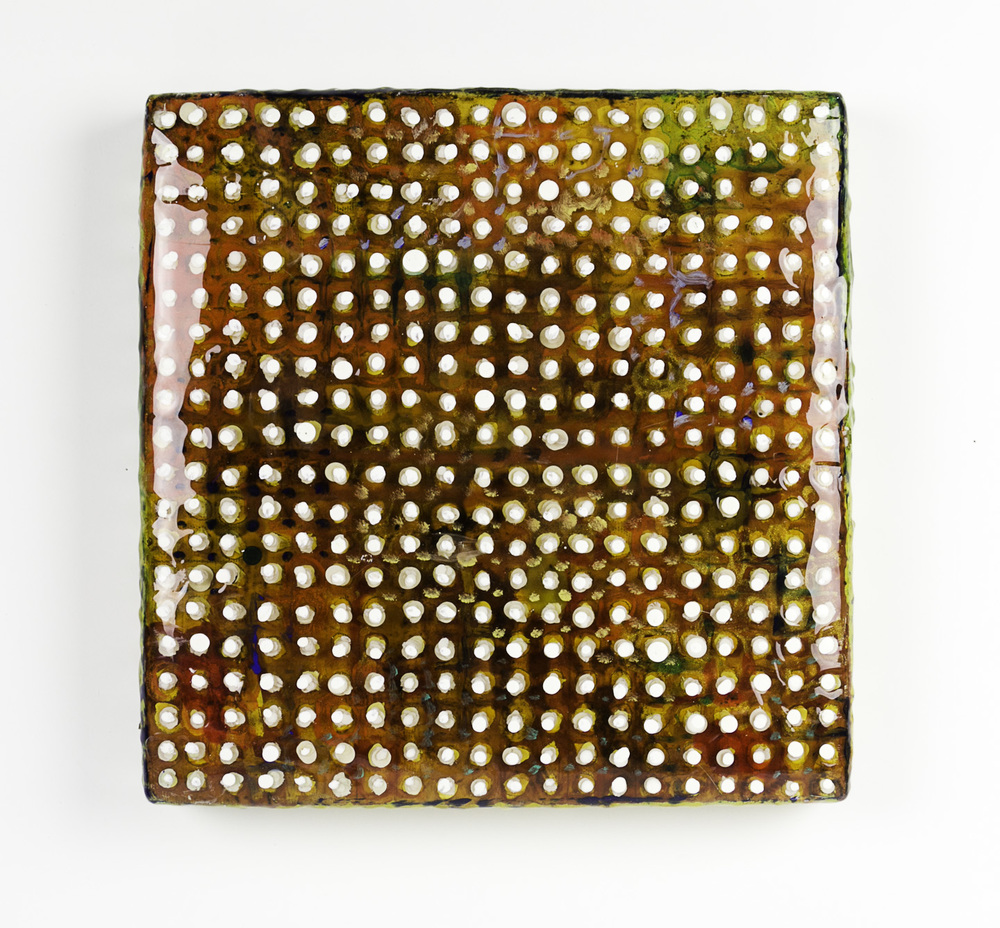 Alan Fulle   Pirates Bounty , 2011    Telescoping acrylic dots floating on 30 layers of epoxy resin on canvas