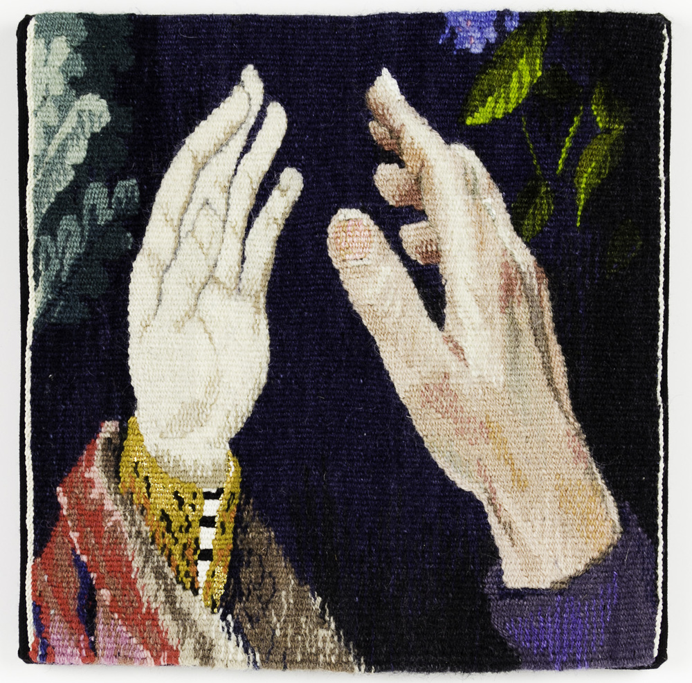 Cecilia Blomberg   Hand to Hand , 2008  Handwoven Tapestry