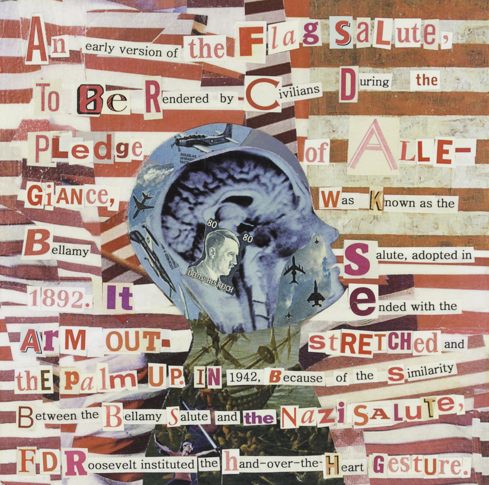 Deborah Lawrence   Flag Salute , 2009  Collage, acrylic, and varnish on board