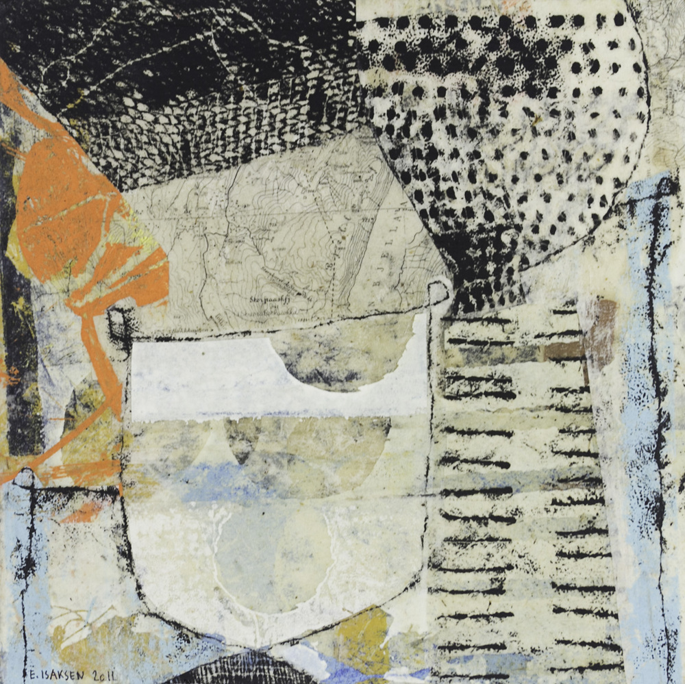 Eva Isaksen   Bits and Pieces #1 , 2011  Collage on canvas