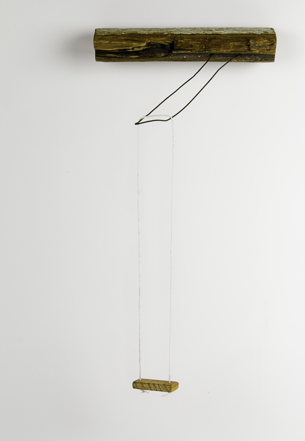 Helen Gamble   swing , 2011  Wood,wire, and string