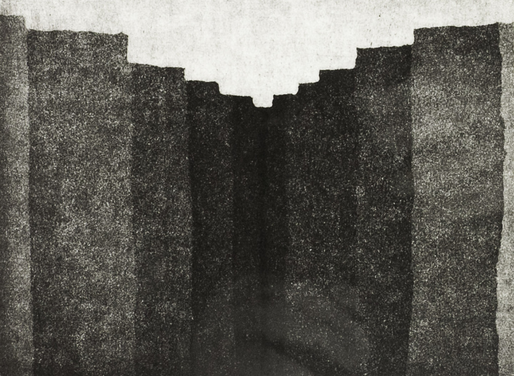 James Reed   Earth Cleft , 2011  Aquatint-etching