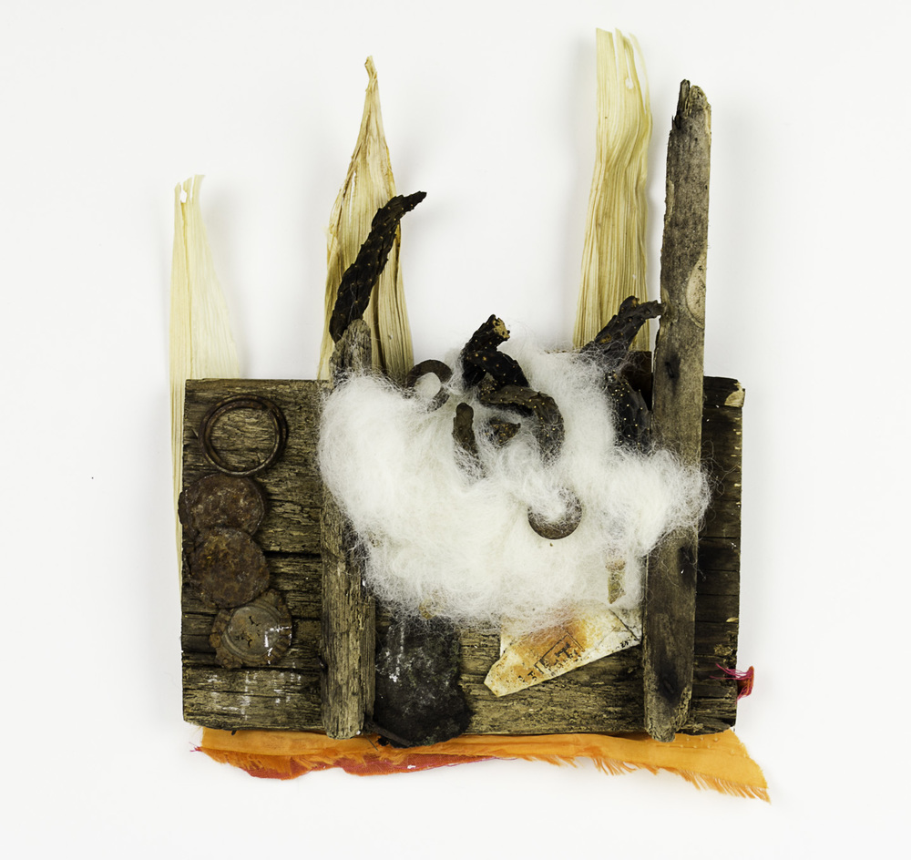 Janice Fournier   Crown 1 , 2009  Mixed media, found materials