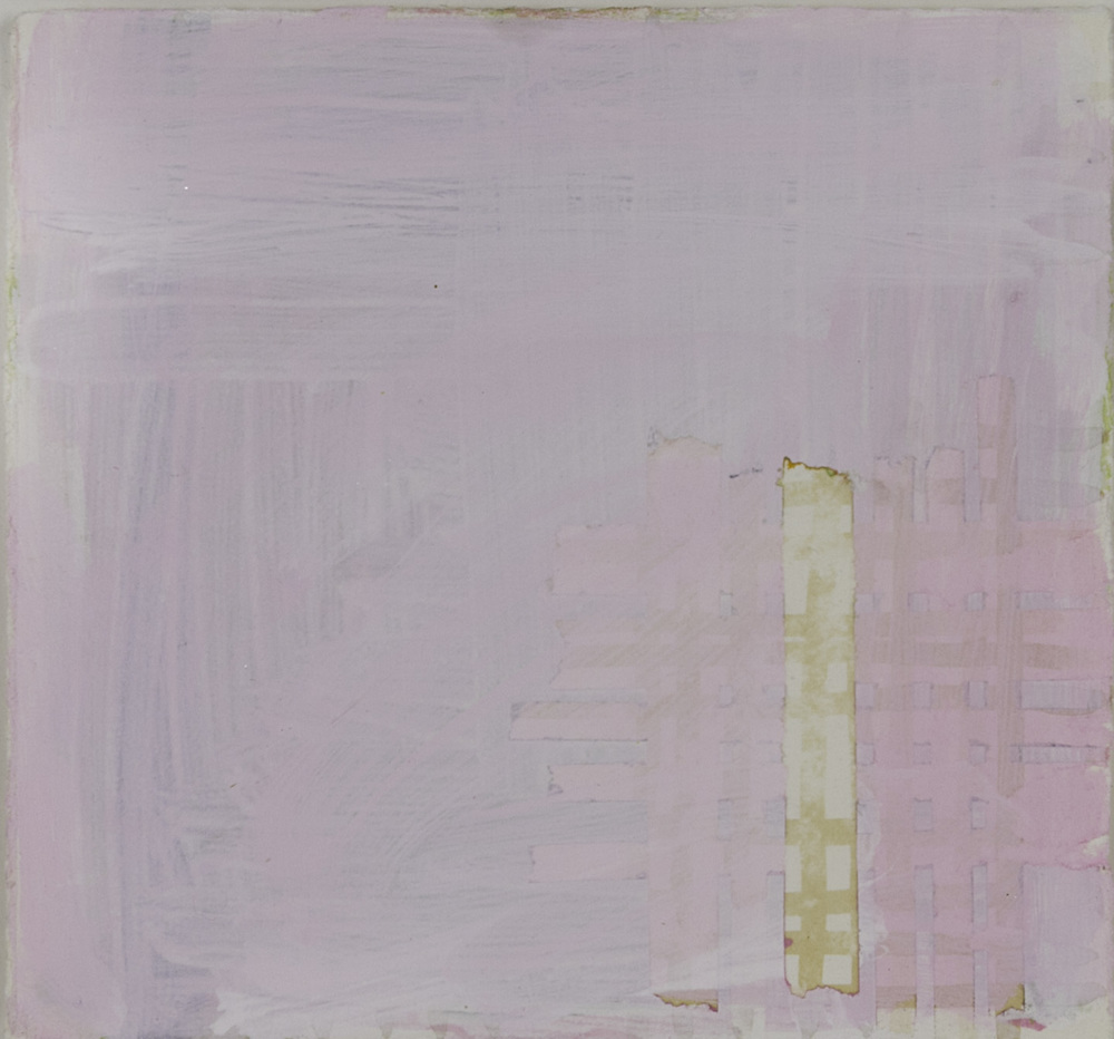 Julie Alexander   small pink window , 2011  Tea, falsetto, ink, pencil on paper