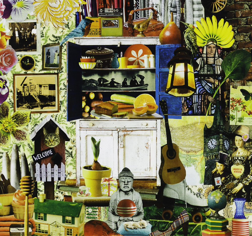 Michelle Fortier   Gramma's House , 2011  Collage