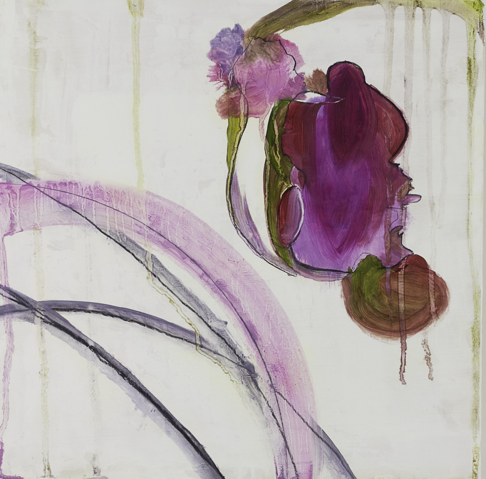 Stacy Rosevear   beauty in becoming , 2011  Oil and charcoal on wood
