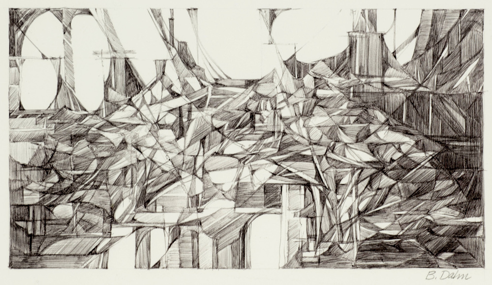 Barbara Dahn     El Mercado , 2011  Ink on paper