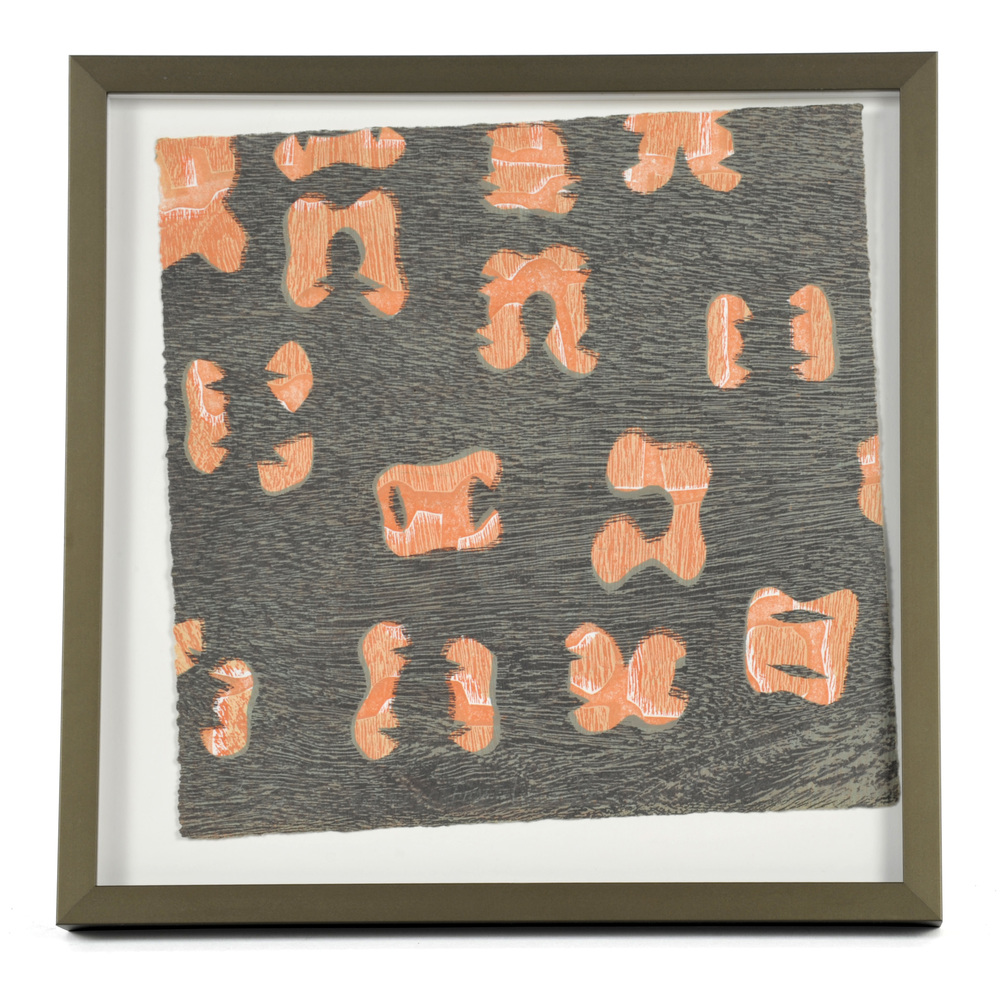 Carmi Weingrod     Lost in Conversation , 2012  Woodblock and stencil monoprint