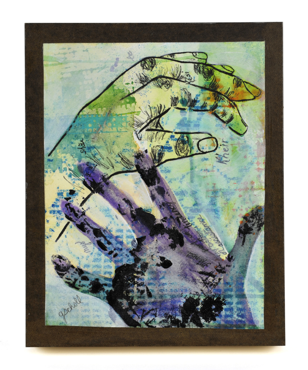 Gayle Scholl     On the Other Hand,  2012  Mixed medium