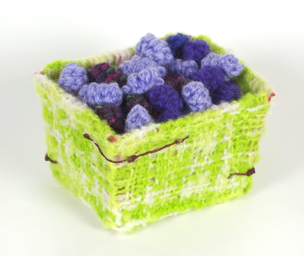 Judy Hurcomb     Berry Box,  2010  Wool covered berry box/ wool crochet berries
