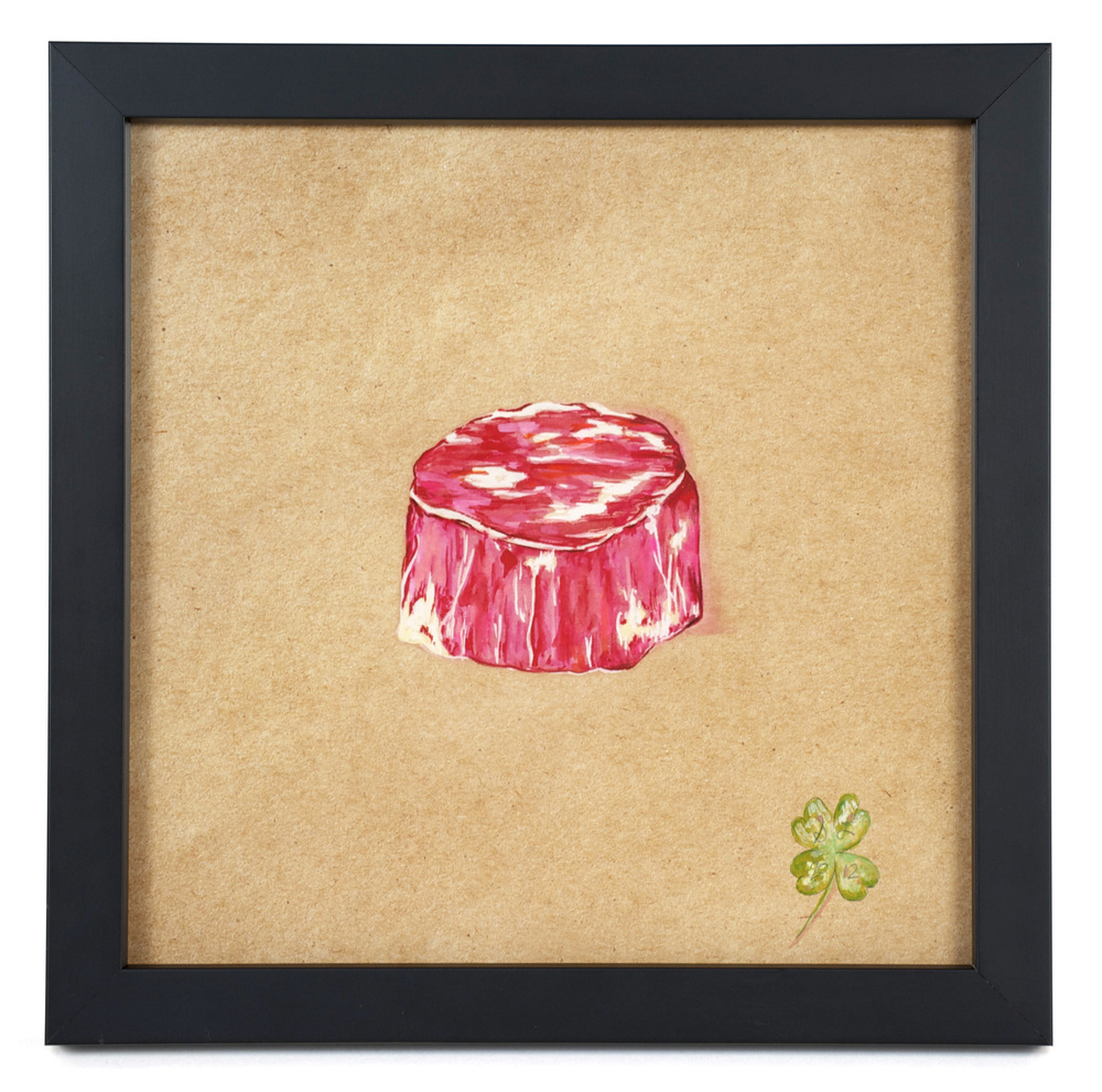 "Suzanne Lamon    Filet/Brother: From the Series, ""The Real Vegetarians,""  2012   Mixed: watercolor and colored pencil"