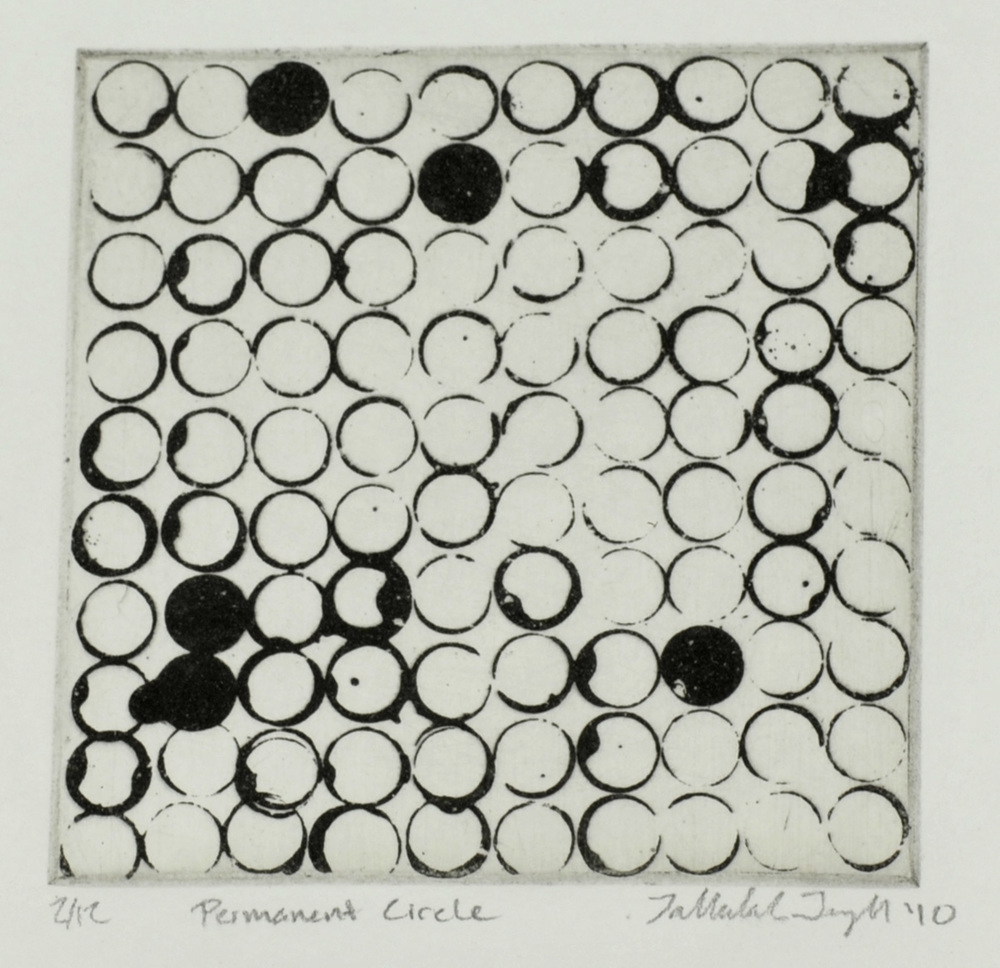 Tallulah Terryll     Permanent Circle , 2010  Sugar lift etching