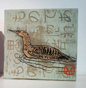 Meredith MacLeod      Loon , 2013     Mixed media