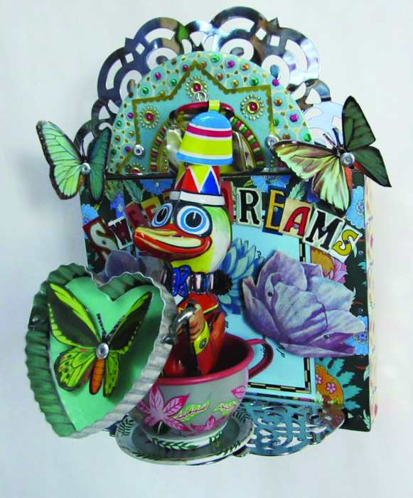 Jenny Fillius      Sweet Dreams , 2014     Repurposed tin