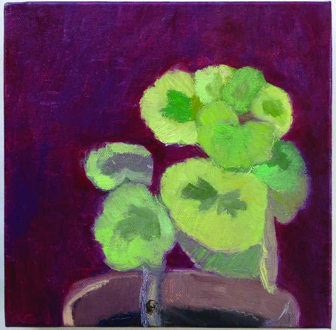 Jean Smith      Geranium , 2014     Oil on canvas