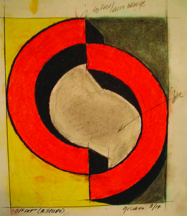 Rob Gischer      Offset , 2014     Pastels