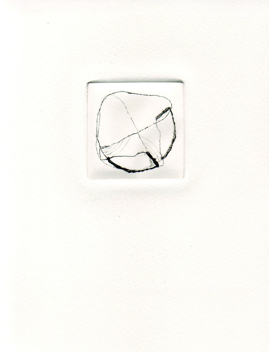 Sue Danielson      Thought Circle , 2012     Drypoint print
