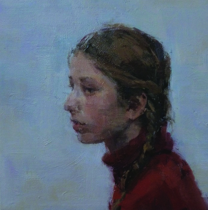 Runchloe Chen      Mid-Tone Portrait #1 , 2014     Oil on canvas