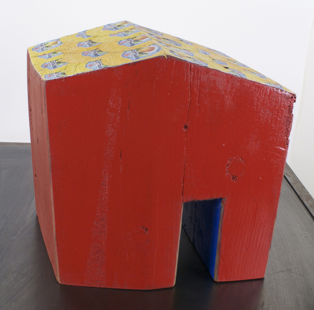 John de Wit   Foreclosure , 2010  Cedar, foam, found objects, paint  Collection of Gail Gibson