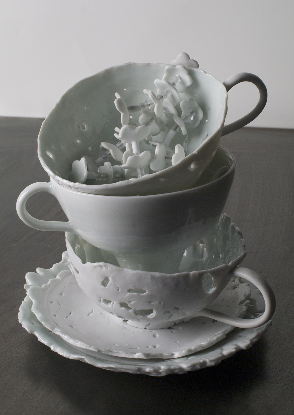 Lois Harbaugh   Stack , 2010  Cone 10 stoneware and cone porcelain  Collection of Sandra Westford