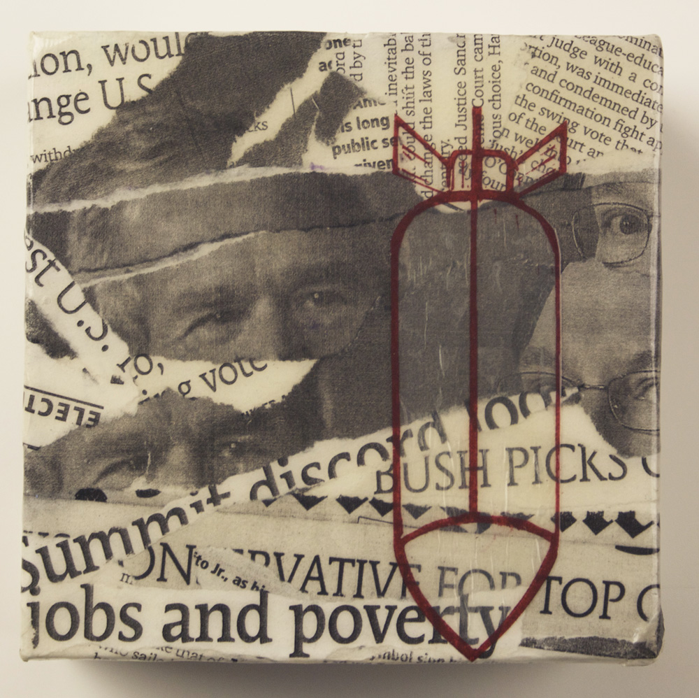 Dionne Haroutunian   Against All Hope , 2006  Collage and linoleum block