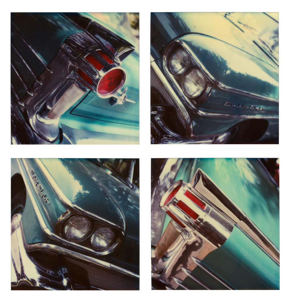 John A. Kane   Four Corners of an Oldsmobile Eighty-Eight , 1998  Four unique Polaroid SX-70 photographs