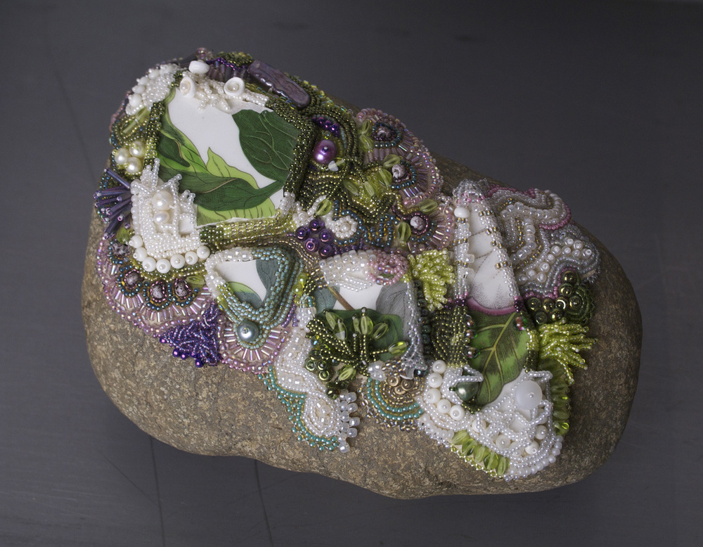 Laurie Kanyer   Private Garden , 2009  Beadwork scultpure