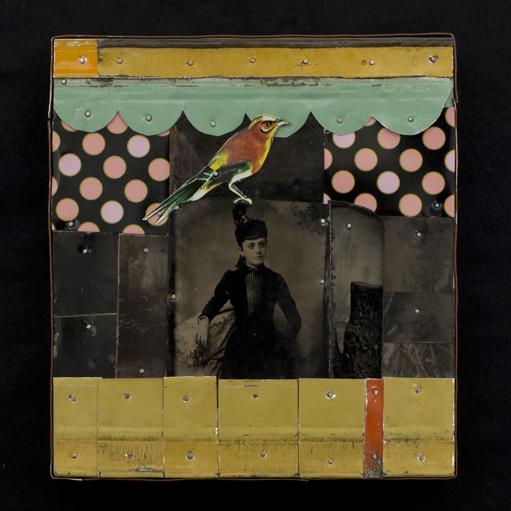Nia Michaels   Good Bird , 2010  Tins and tin type photos