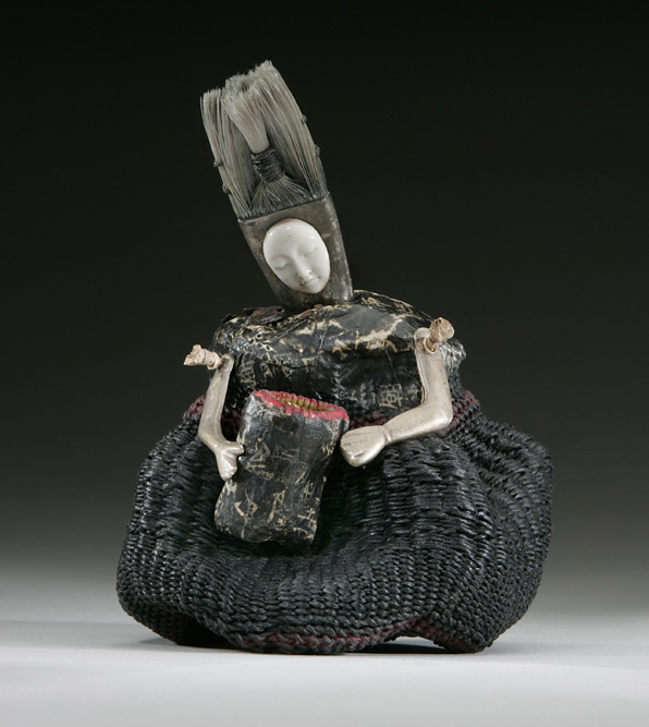 Nancy Ravenhall Johnson   Il Stella , 2009  Woven and twined wax linen, paper, found objects
