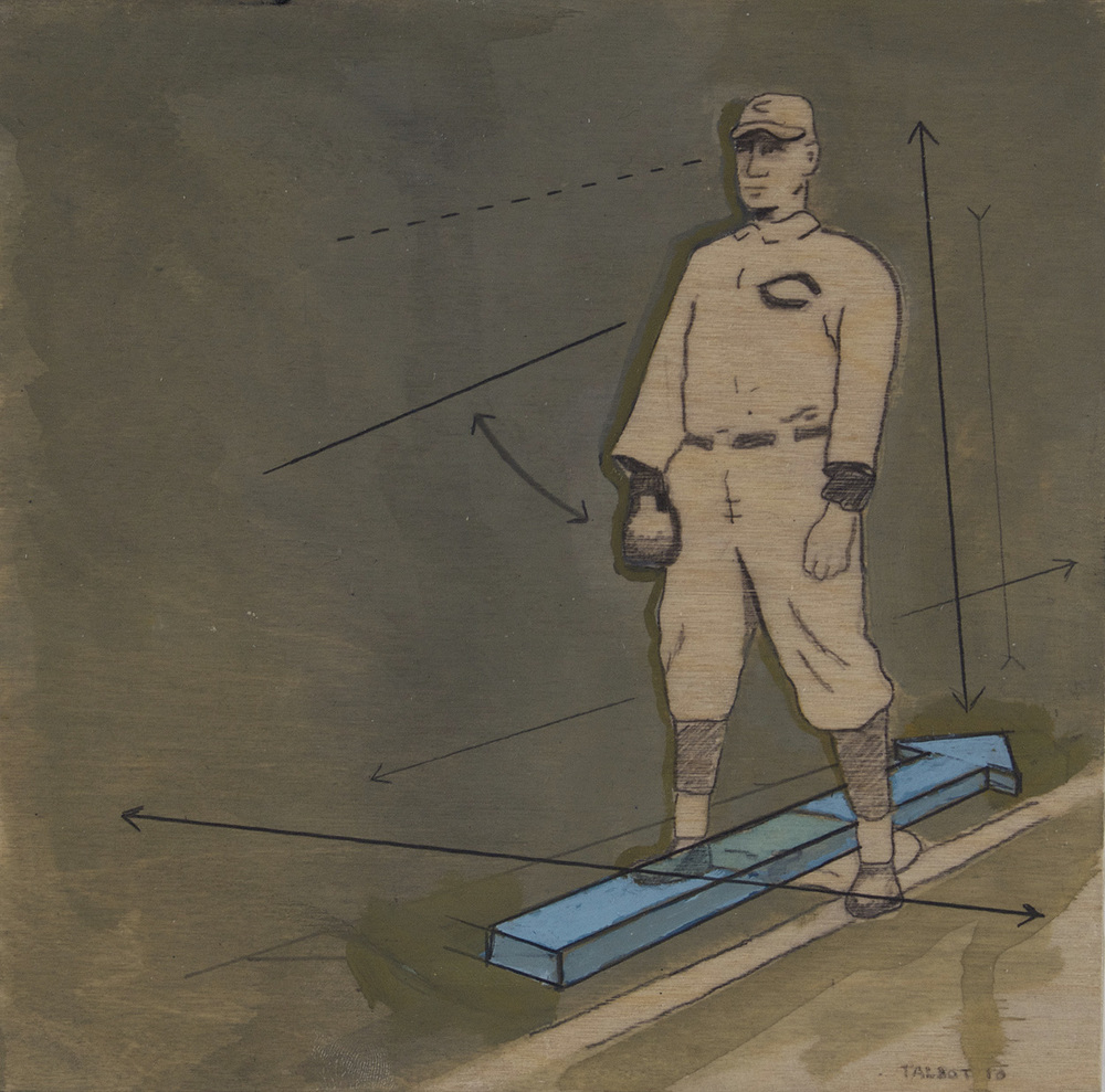 Ty Talbot   Harold Homer Chase , 2010  Acrylic and graphite on birch panel