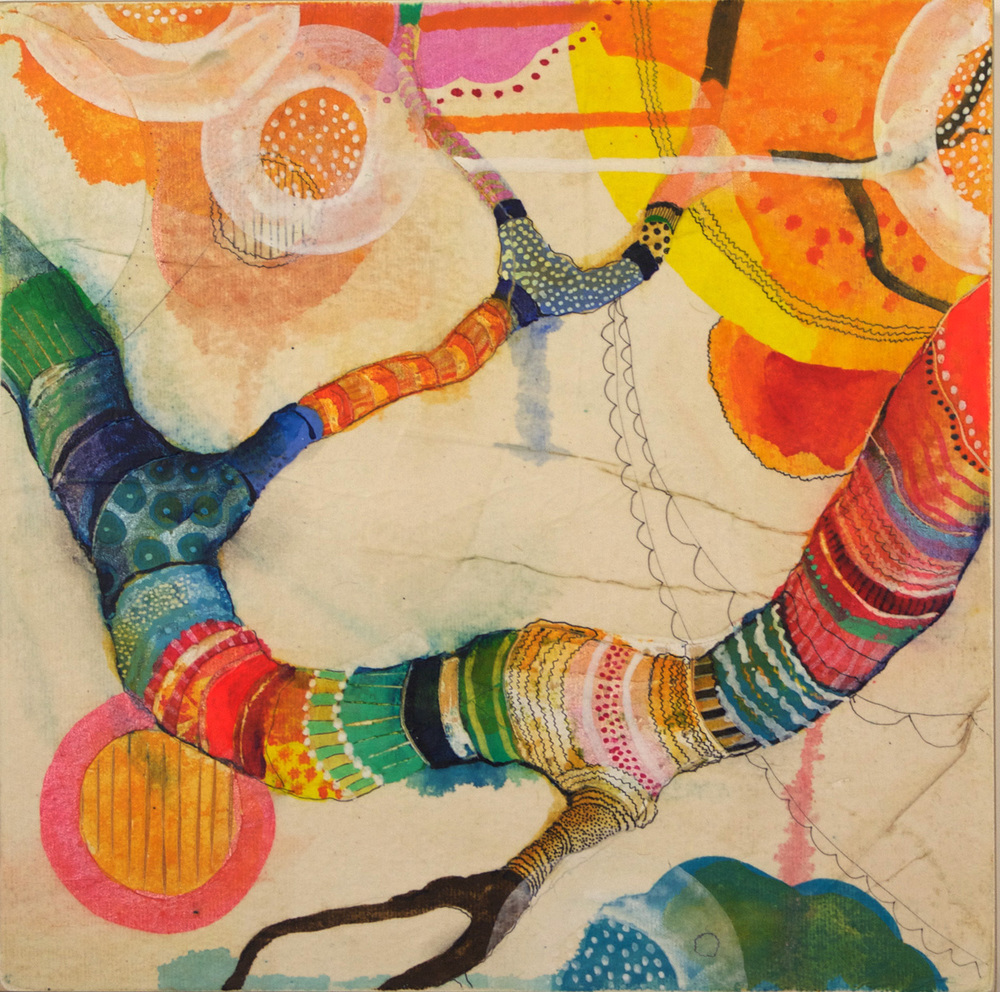 Liz Tran   Limb , 2010  Mixed media on panel
