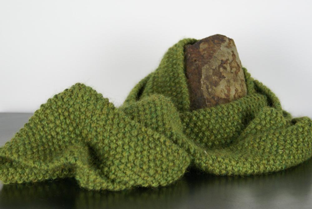 B.J. Wolf   Tieton Infinity Loop , 2010  Knitting, baby alpaca