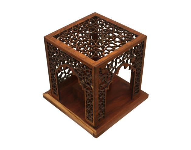 David Beker, Shrine #4 , 2015.   black walnut,danish oil   9.75 x 9.75 x 9.75 in.  $400