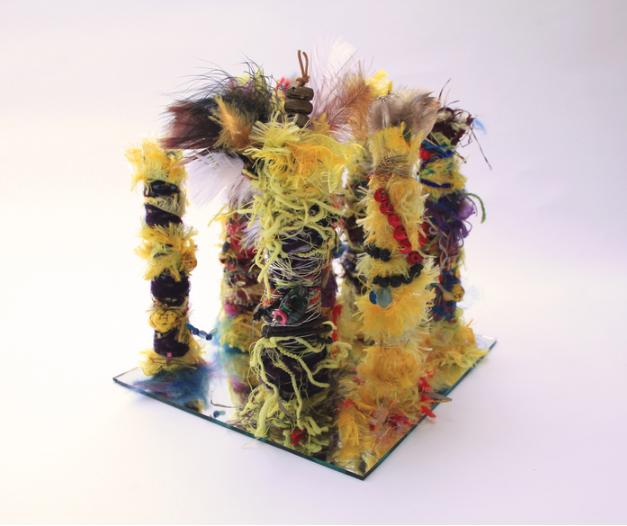 Susie Biehl, World Diversity , 2016.  mixed media  10 x 10 x 10 in.  $750