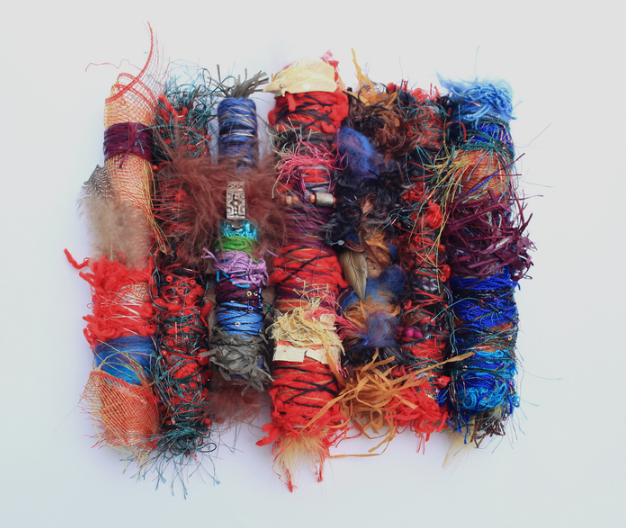 Susie Biehl, Infinite Thread , 2016.  mixed media  10 x 10 x 3 in.  $760
