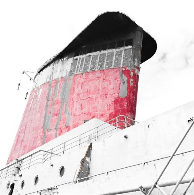 Wyn Bielaska,  SS UNITED STATES 747 , 2016.  photography  10 x 10 in.  $600