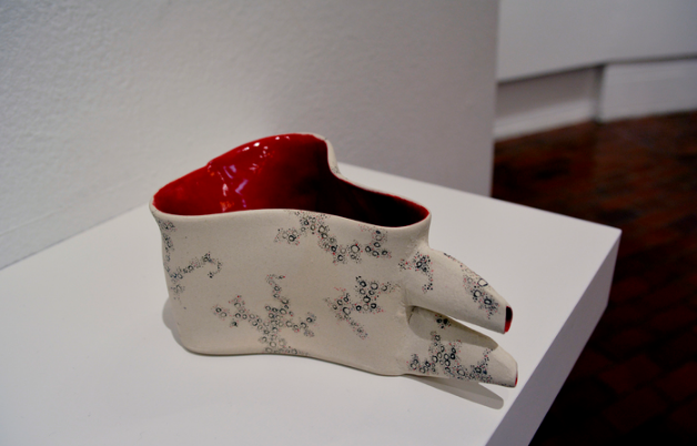 Remelisa Cullitan,  Lady Fountain Series: Seeing Red , 2016.  ceramic  8 x 4 x 3 in.  $325