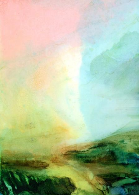 Jennifer Finch, Inkscape XXXIII , 2016.  ink on paper  7 x 5 in.  $160