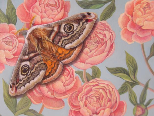 Kathleen Halbert, Camoflage? , 2016.  acrylic on canvas  10 x 10 in.  $400