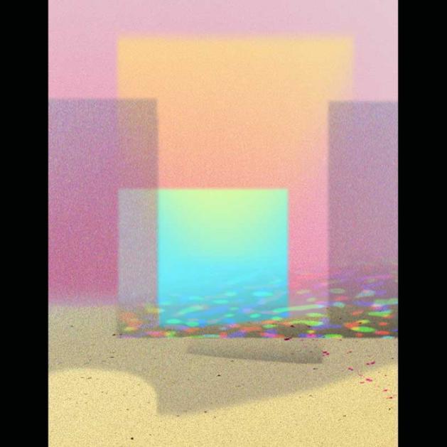 Barbara Halperin, Ocean Morning , 2016.  digital print-painting  50 x 39 in.  $1100