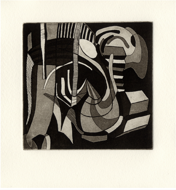 Kristina Key, Aquatint VI , 2016.  copper etching  6.5 x 6 in.  $75