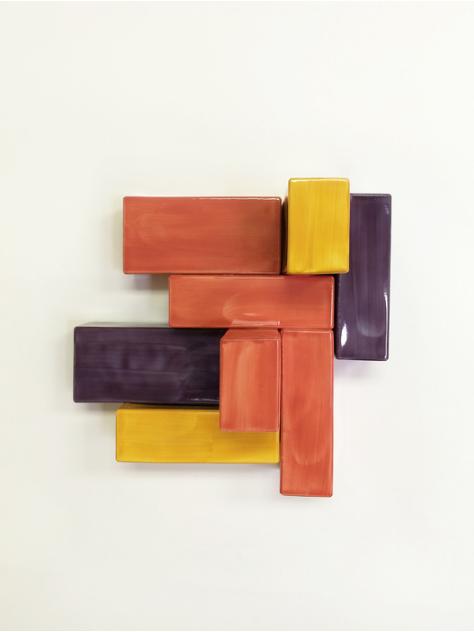 Mie Kongo, Untitled , 2015.  porcelain, glaze, underglaze  10 x 10 x 6 in.  $500