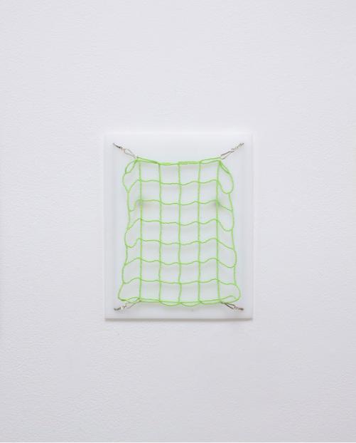 Lily Lee, Net Study 5 , 2015.  plexiglas, glass beads, nylon thread, metal findings  10 x 8 in.  $475