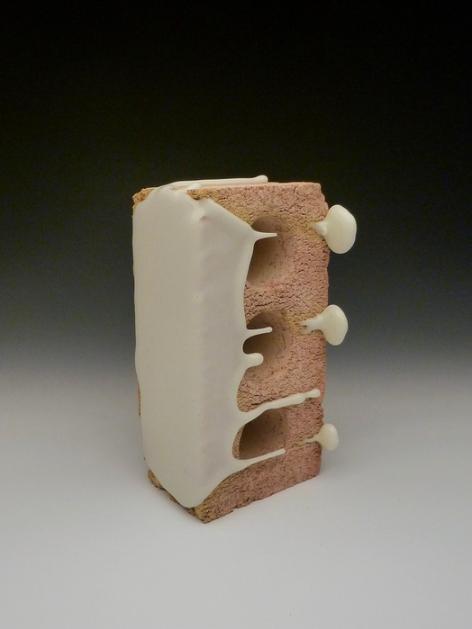 Drew Liedtke,  Glazed Doughnut , 2016.  ceramic castable, glaze  9 x 5 x 4.5 in.  $125